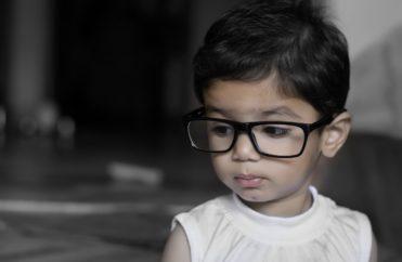 girl, child, glasses